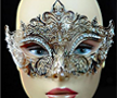 Metal Diamond Venetian Mask