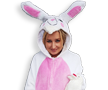 Easter Bunny White Pink