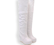 White Over the Knee Wedge Boot