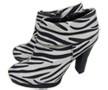 Zebra Mini Boot