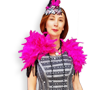 Silver Pink Flapper